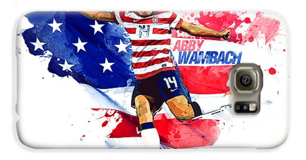 Abby Wambach Galaxy S6 Case by Semih Yurdabak