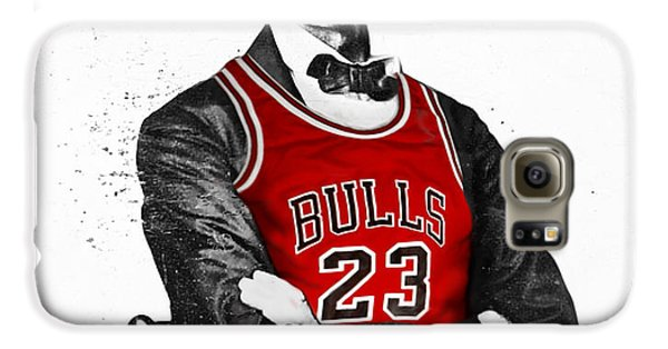 Chicago Galaxy S6 Case - Abe Lincoln In A Michael Jordan Chicago Bulls Jersey by Roly Orihuela