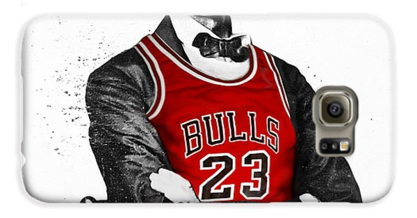 City Scenes Galaxy S6 Case - Abe Lincoln In A Michael Jordan Chicago Bulls Jersey by Roly O