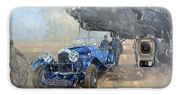 Car Galaxy S6 Case - Able Mable And The Blue Lagonda  by Peter Miller