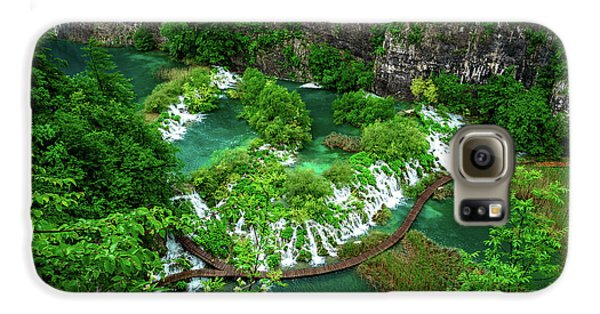 Above The Paths And Waterfalls At Plitvice Lakes National Park, Croatia Galaxy S6 Case
