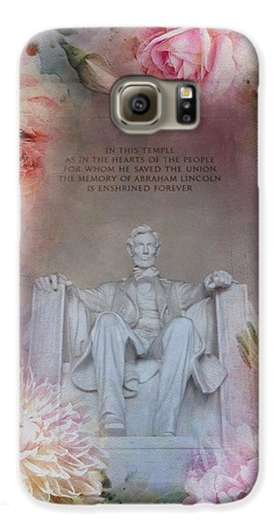 Lincoln Memorial Galaxy S6 Case - Abraham Lincoln Memorial At Spring by Marianna Mills