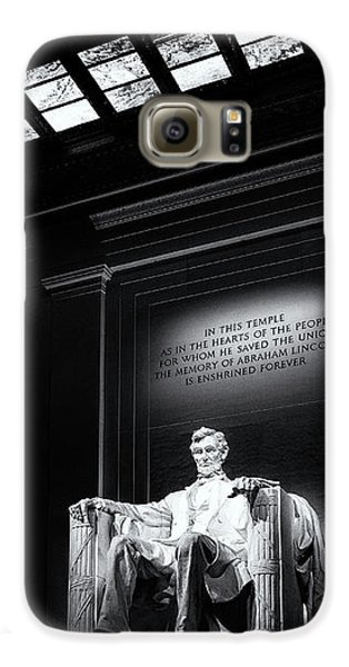 Abraham Lincoln Seated Galaxy S6 Case by Andrew Soundarajan