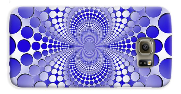 Abstract Blue And White Pattern Galaxy S6 Case
