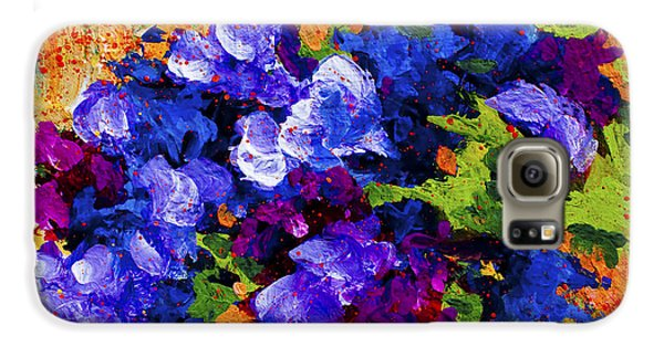 Daisy Galaxy S6 Case - Abstract Boquet 3 by Marion Rose