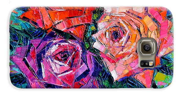 Rose Galaxy S6 Case - Abstract Bouquet Of Roses by Mona Edulesco