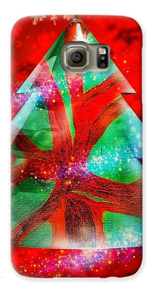 Abstract Christmas Bright Galaxy S6 Case