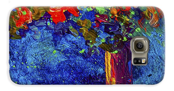 Daisy Galaxy S6 Case - Abstract Floral 2 by Marion Rose