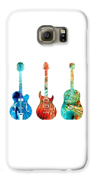Abstract Guitars By Sharon Cummings Galaxy S6 Case by Sharon Cummings