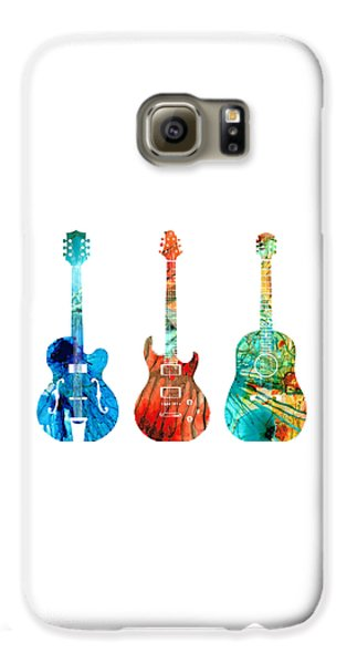 Music Galaxy S6 Case - Abstract Guitars By Sharon Cummings by Sharon Cummings
