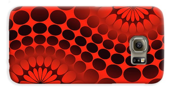Galaxy S6 Case - Abstract Red And Black Ornament by Vladimir Sergeev