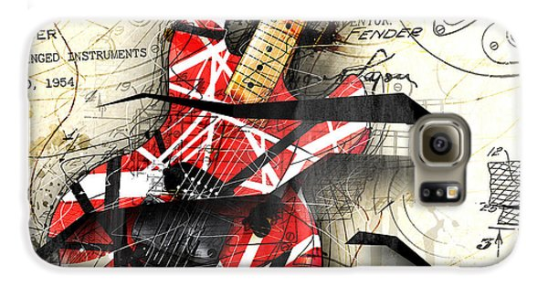 Guitar Galaxy S6 Case - Abstracta 35 Eddie's Guitar by Gary Bodnar