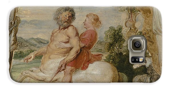 Achilles Educated By The Centaur Chiron Galaxy S6 Case by Peter Paul Rubens