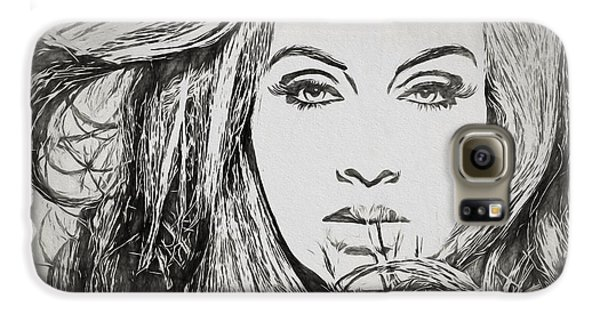 Adele Charcoal Sketch Galaxy S6 Case