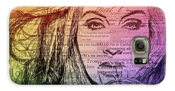 Adele Hello Typography  Galaxy S6 Case by Dan Sproul