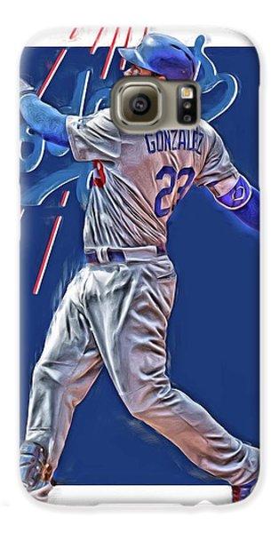 Los Angeles Dodgers Galaxy S6 Case - Adrian Gonzalez Los Angeles Dodgers Oil Art by Joe Hamilton