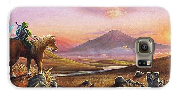 Mountain Sunset Galaxy S6 Case - Adventure Awaits by Joe Mandrick