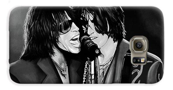 Aerosmith Toxic Twins Mixed Media Galaxy S6 Case by Paul Meijering