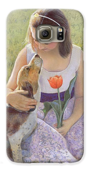 Galaxy S6 Case featuring the painting Affection by Nancy Lee Moran