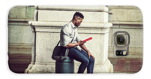 African American College Student Studying In New York Galaxy S6 Case