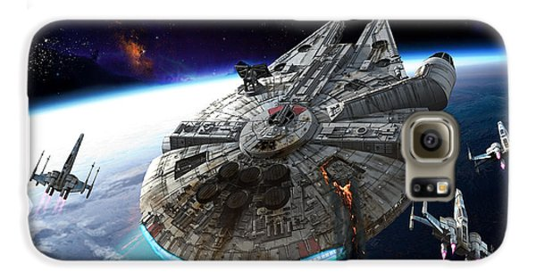 Space Ships Galaxy S6 Case - Afterburn by Kurt Miller