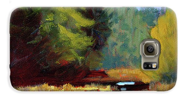 Galaxy S6 Case featuring the painting Afternoon On The River by Nancy Merkle