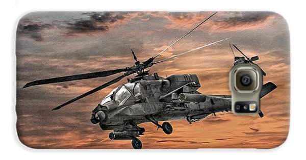 Helicopter Galaxy S6 Case - Ah-64 Apache Attack Helicopter by Randy Steele