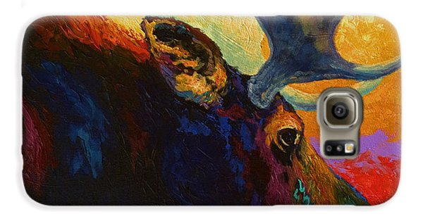 Bull Galaxy S6 Case - Alaskan Spirit - Moose by Marion Rose