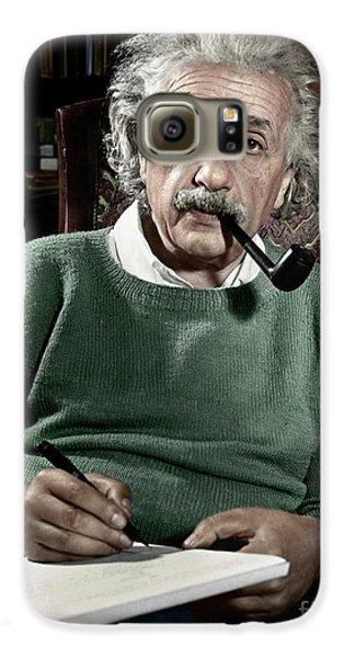 Portraits Galaxy S6 Case - Albert Einstein by Granger
