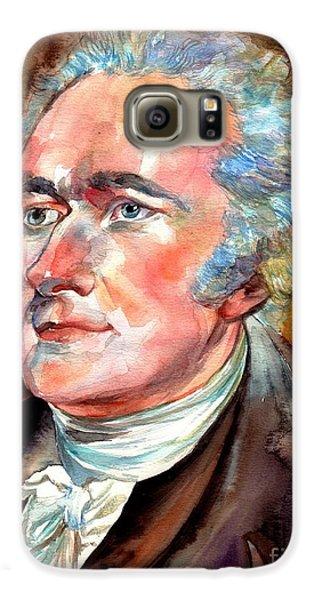 Thomas Jefferson Galaxy S6 Case - Alexander Hamilton Watercolor by Suzann's Art