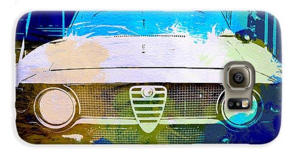 Automobile Galaxy S6 Case - Alfa Romeo Watercolor by Naxart Studio
