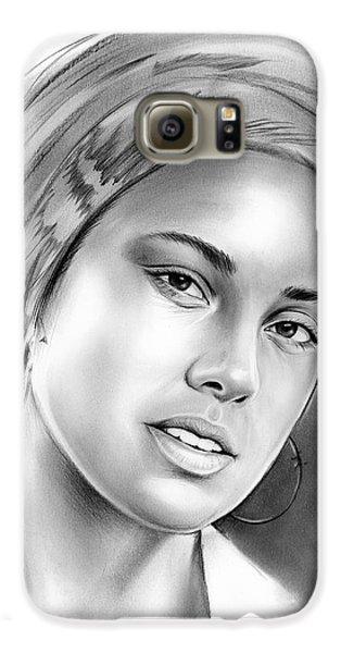 Rhythm And Blues Galaxy S6 Case - Alicia Keys by Greg Joens