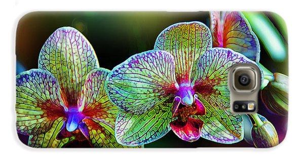 Orchid Galaxy S6 Case - Alien Orchids by Bill Tiepelman