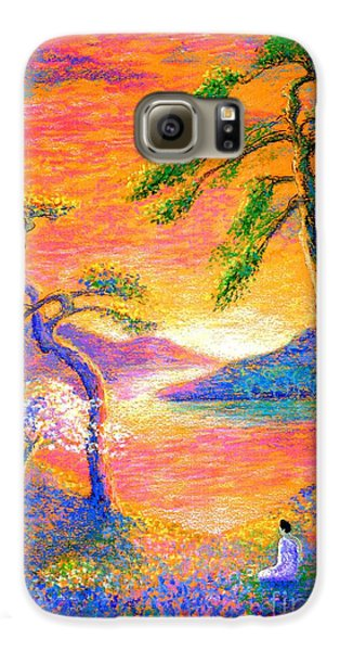Buddha Meditation, All Things Bright And Beautiful Galaxy S6 Case by Jane Small