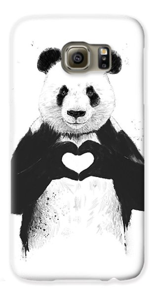 Galaxy S6 Case - All You Need Is Love by Balazs Solti
