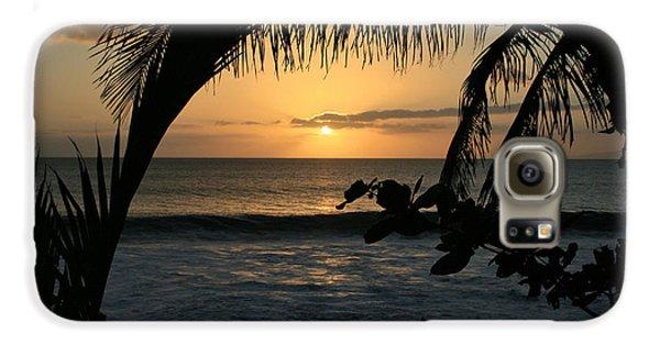 Aloha Aina The Beloved Land - Sunset Kamaole Beach Kihei Maui Hawaii Galaxy S6 Case by Sharon Mau