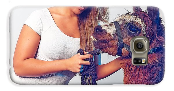 Alpaca Mr. Tex And Breanna Galaxy S6 Case by TC Morgan