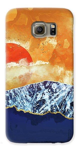 Landscapes Galaxy S6 Case - Amber Dusk by Katherine Smit