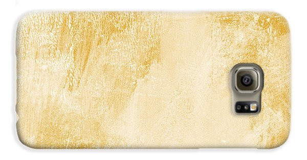 Abstract Galaxy S6 Case - Amber Waves by Linda Woods