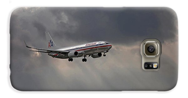 American Aircraft Landing After The Rain. Miami. Fl. Usa Galaxy S6 Case