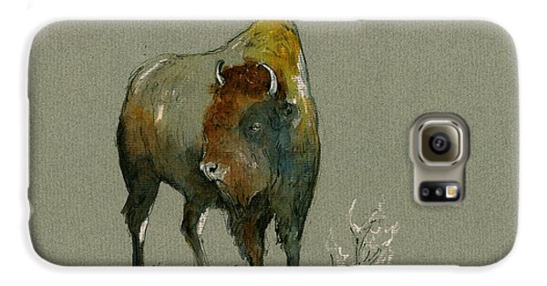 American Buffalo Galaxy S6 Case by Juan  Bosco