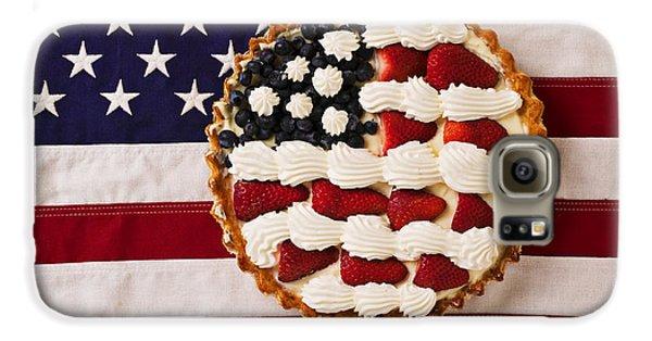 American Pie On American Flag  Galaxy S6 Case