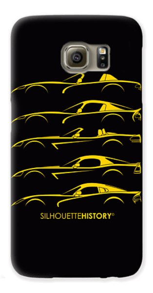 Viper Galaxy S6 Case - American Snakes Silhouettehistory by Gabor Vida