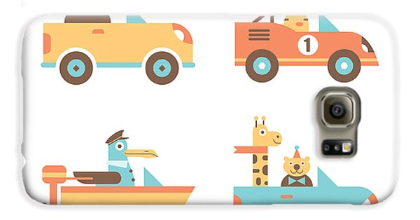 Truck Galaxy S6 Case - Animal Cars by Mitch Frey