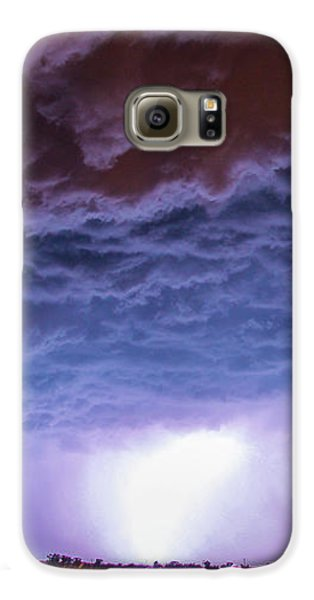 Nebraskasc Galaxy S6 Case - Another Impressive Nebraska Night Thunderstorm 007 by NebraskaSC