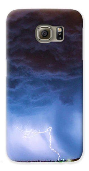 Nebraskasc Galaxy S6 Case - Another Impressive Nebraska Night Thunderstorm 008/ by NebraskaSC