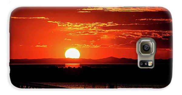 Antelope Island Marina Sunset Galaxy S6 Case