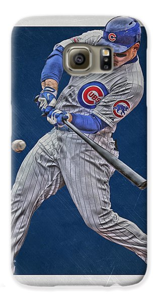 Anthony Rizzo Chicago Cubs Art 1 Galaxy S6 Case by Joe Hamilton