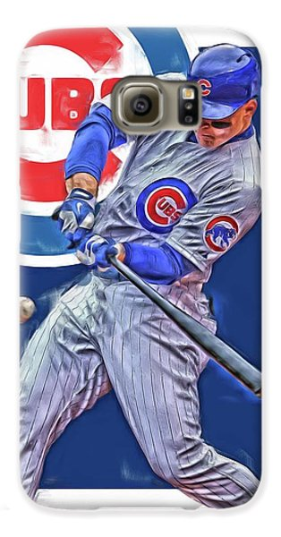 Anthony Rizzo Chicago Cubs Oil Art Galaxy S6 Case