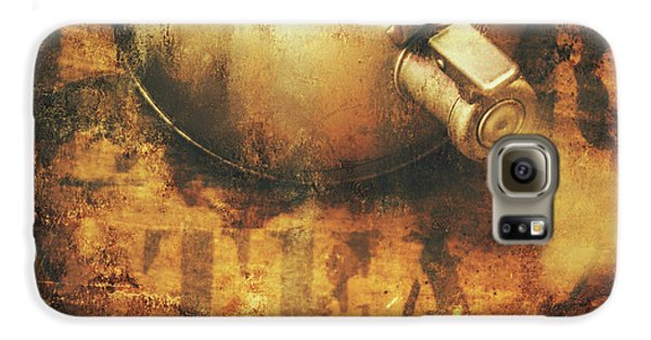 Antique Old Tea Metal Sign. Rusted Drinks Artwork Galaxy S6 Case